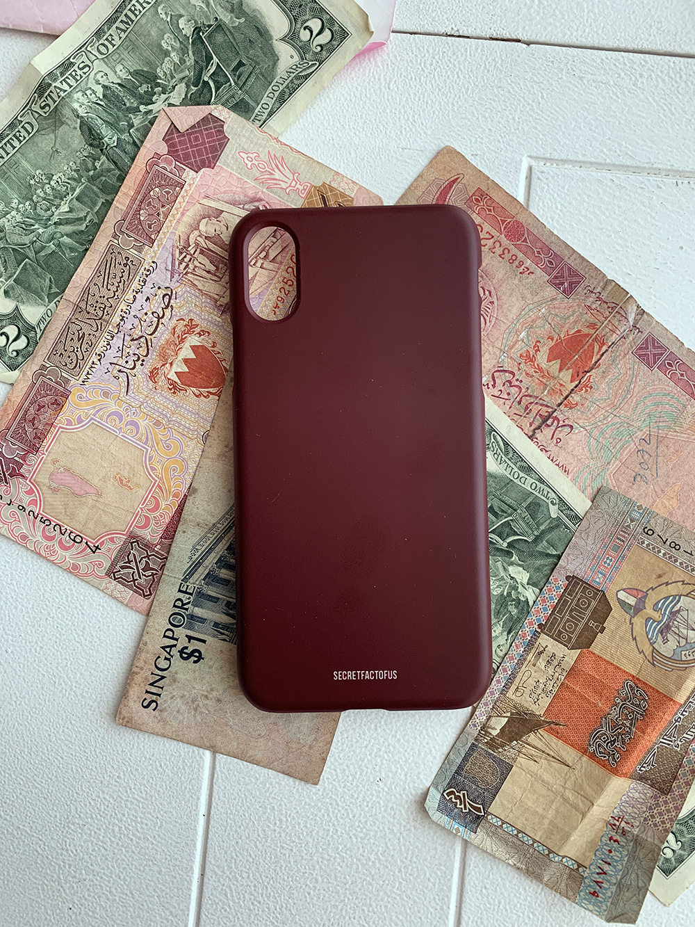 Simple Color Case [ Red Bean ]