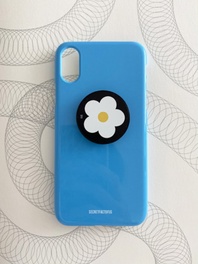 Simple Color Case [ Cerulean Blue ]